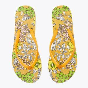 COPY - TORY BURCH Floral Printed Thin Flip-Flop- …